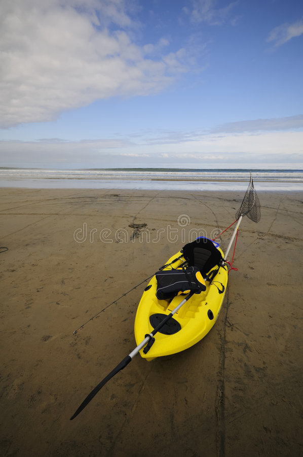 Fishing kayak stock photography
