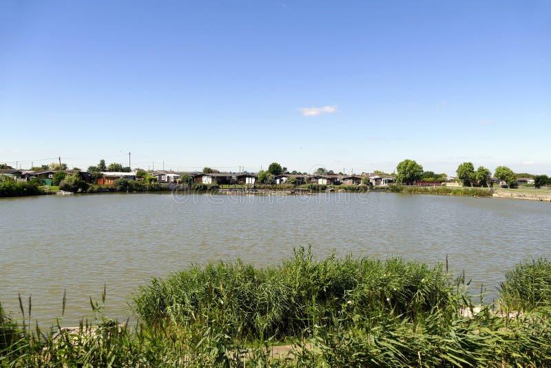 Fishing lake. royalty free stock image