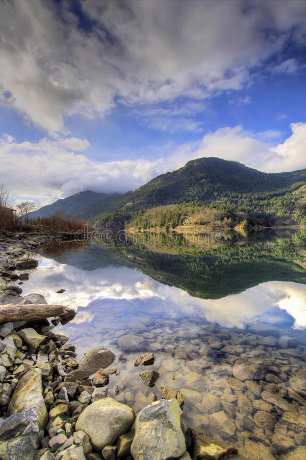 Fishing Lake on the Columbia Gorge royalty free stock photography