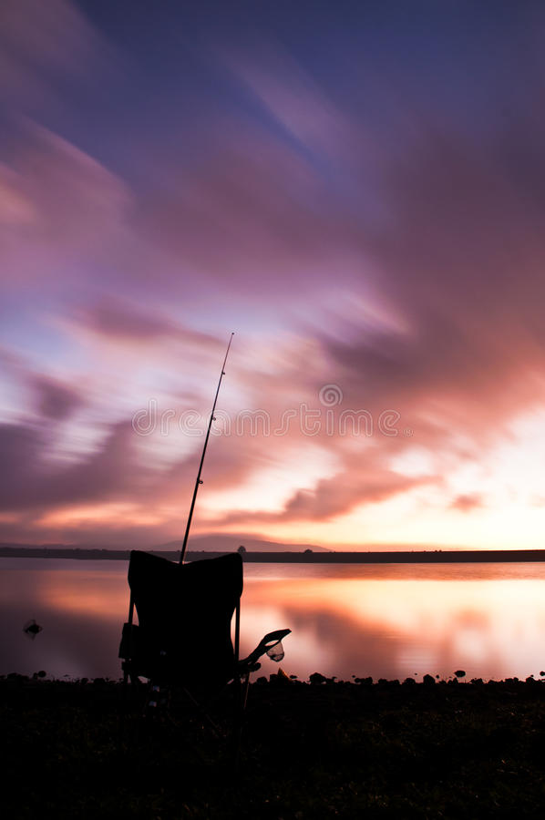 Fishing Landscape royalty free stock photography