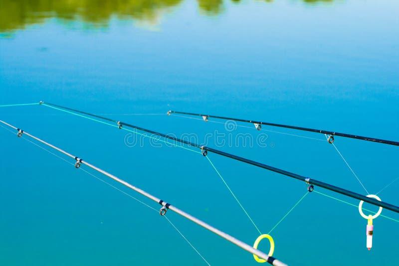 Fishing lines stock image