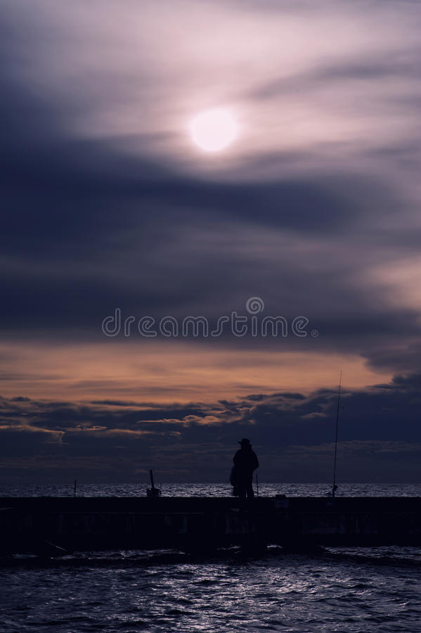 Fishing local on sea in Thailand royalty free stock photos