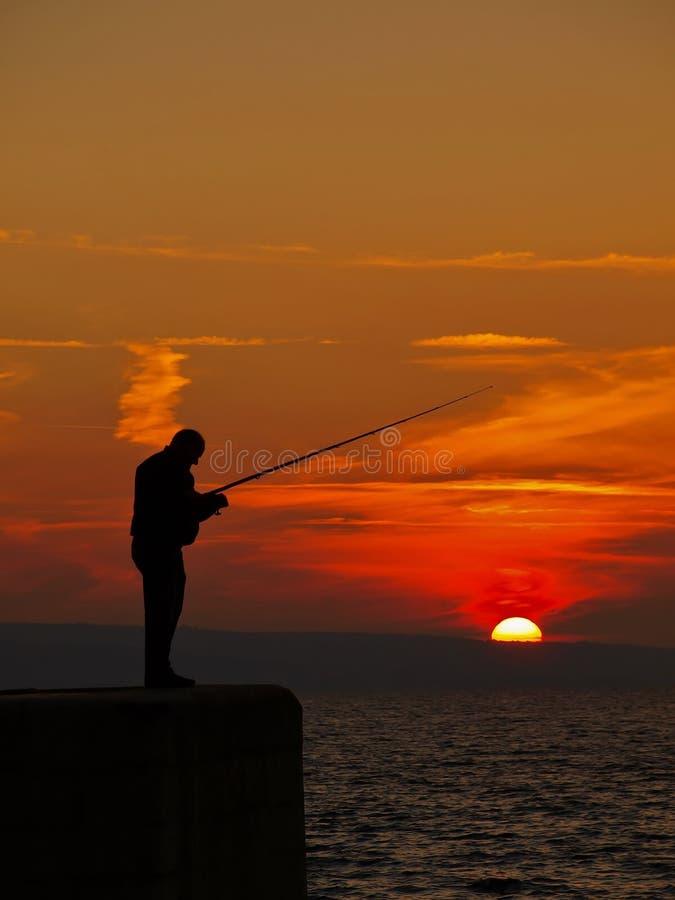 Fishing man royalty free stock photos