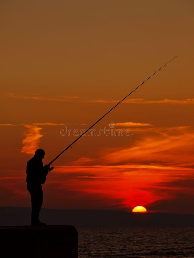 Fishing man 1 stock photo