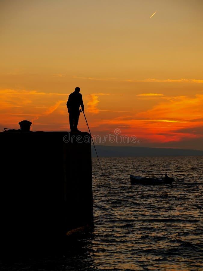 Fishing man 2 royalty free stock photo