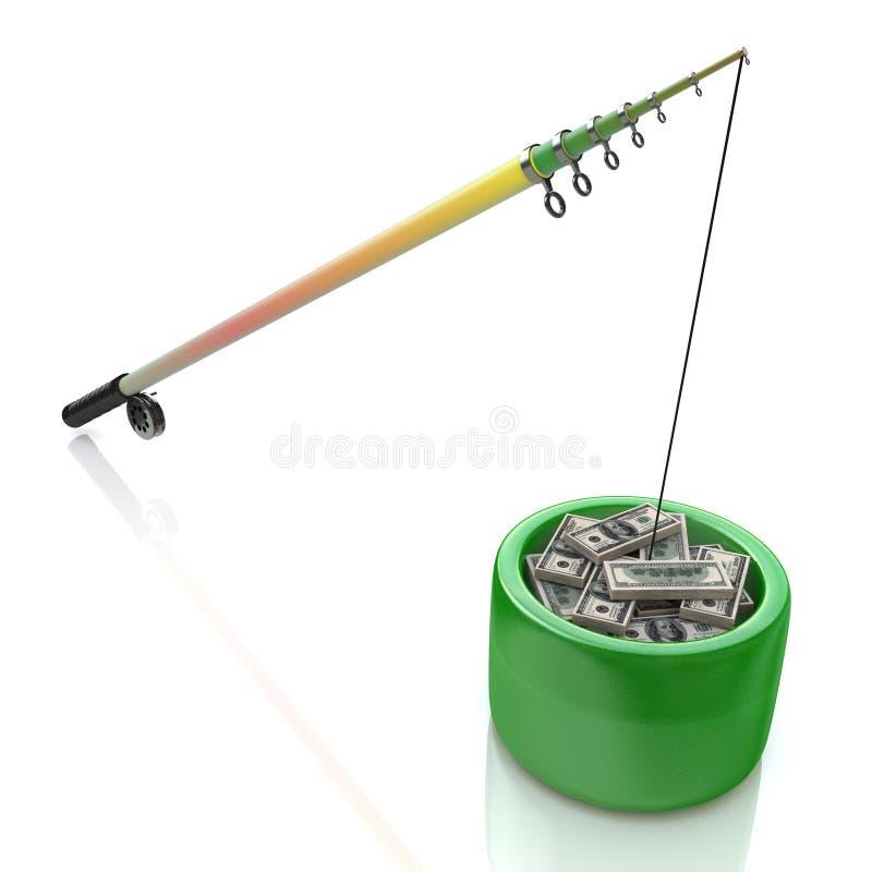 Fishing money vector illustration