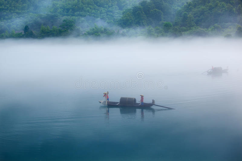 Download Fishing in morning stock photo. Image of reflection, fish - 20662192