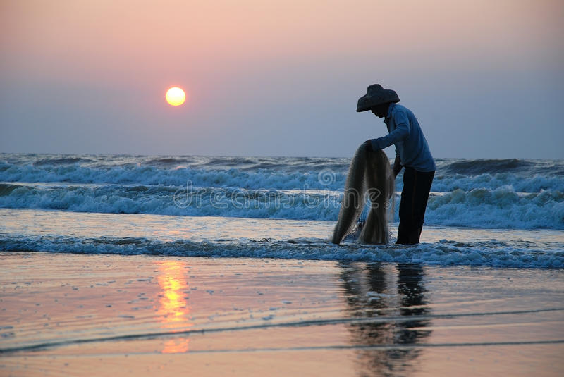 Fishing In The Morning Royalty Free Stock Photo