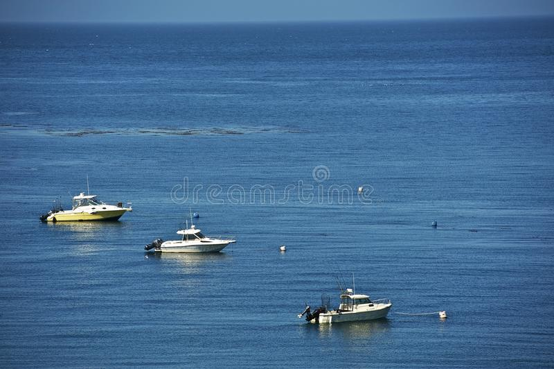 Fishing Motorboats royalty free stock images