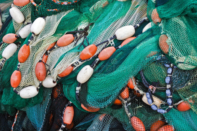 Fishing net. Close up view of fishing net stock images