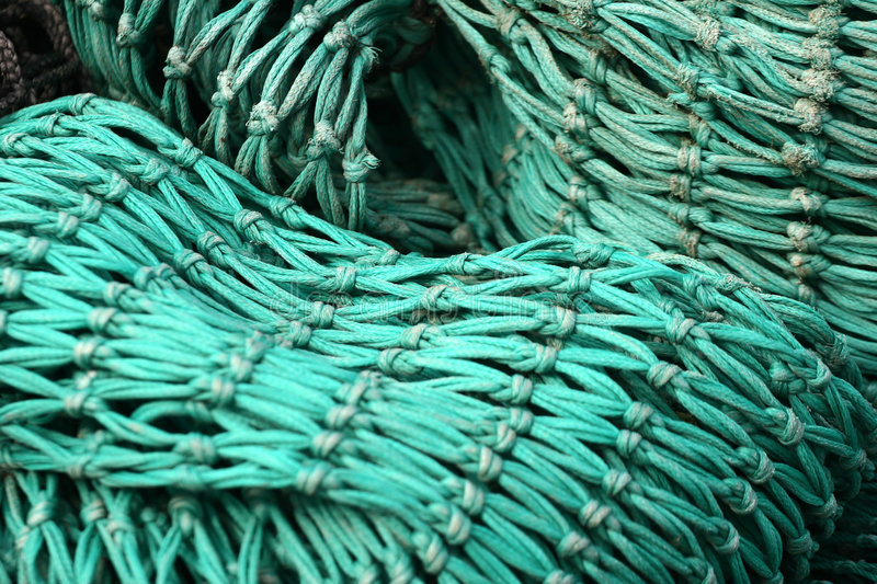 Fishing net on a boat royalty free stock images