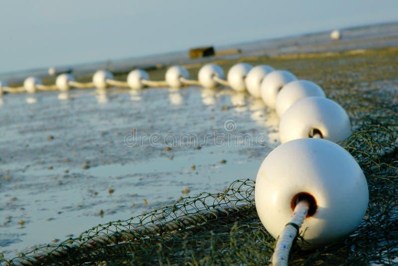 Fishing net details stock photo