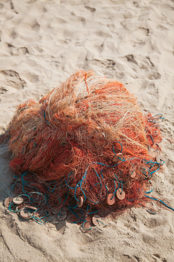 Fishing net. With equipment. India stock images
