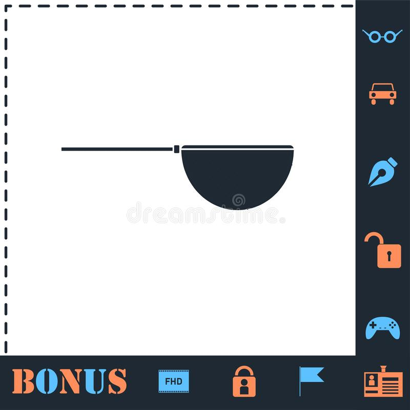 Fishing net icon flat royalty free illustration
