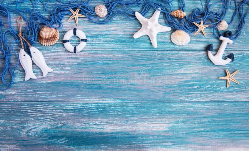 Fishing net with starfish royalty free stock image