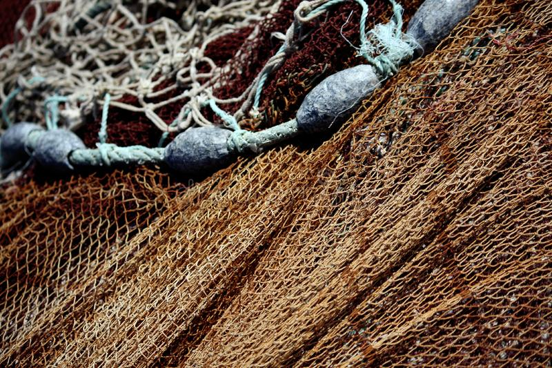 Download Fishing net and weights stock image. Image of colorful - 8441337