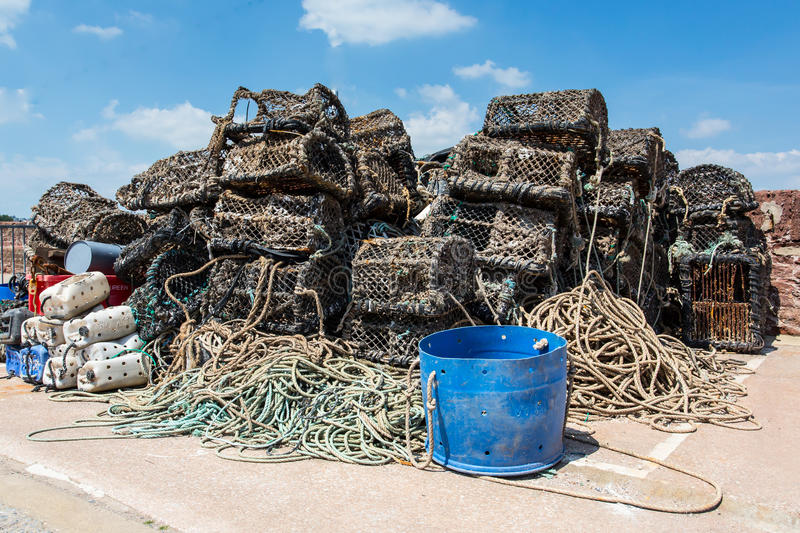Download Fishing Nets stock photo. Image of catch, blue, devon - 31739064