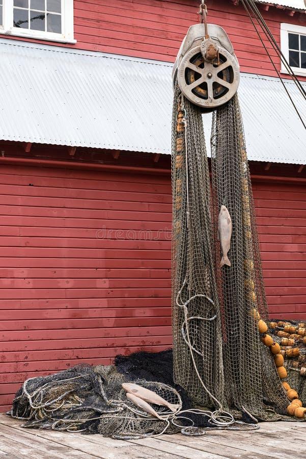 Fishing Nets. Display of Fishing Nets at Icy Strait Point, Hoonah Alaska royalty free stock photo