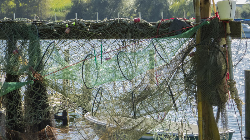 Fishing nets and fish traps royalty free stock image