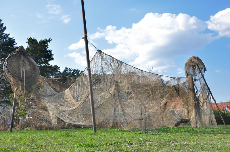 Download Fishing Nets Are Hung Up For Drying Stock Image - Image: 83713839