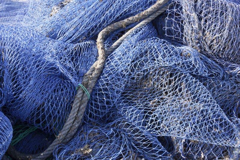 Fishing Nets On Mallorca Stock Photography