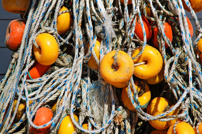 Download Fishing nets and ropes stock photo. Image of marine, nautical - 19389240