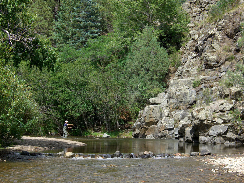 Download Fishing the Pecos stock image. Image of pecos, sports, trout - 961847