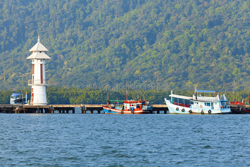 Download Fishing pier stock image. Image of pier, building, hill - 24747217