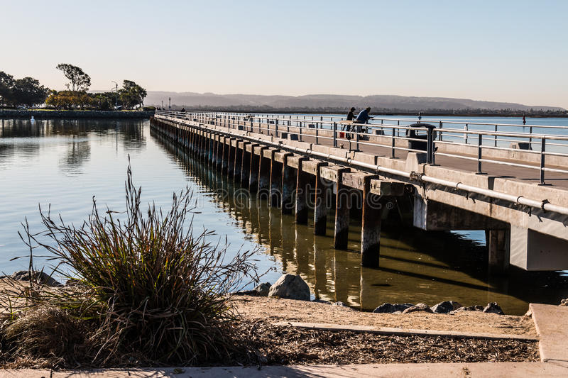 Fishing pier at chula vista bayfront park stock image for Pier fishing san diego