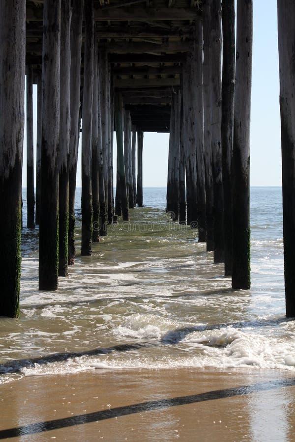 Fishing Pier Splash II royalty free stock images