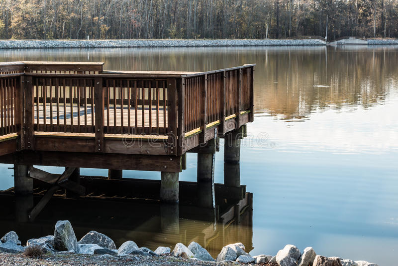 Fishing Pier at Stumpy Lake in Virginia Beach stock photography