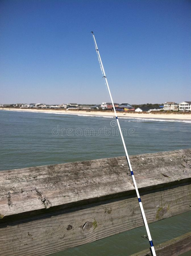 Fishing on the pier 2 royalty free stock image