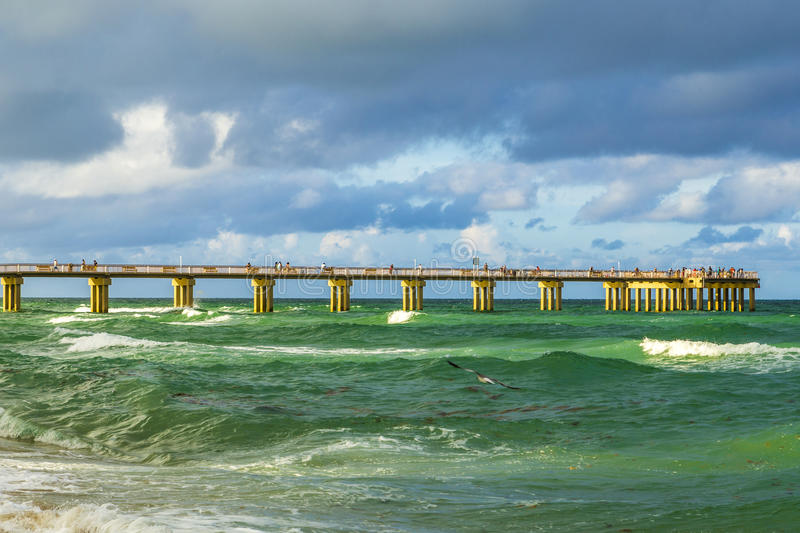 Fishing pier in sunny isles beach stock photos image for Miami fishing piers