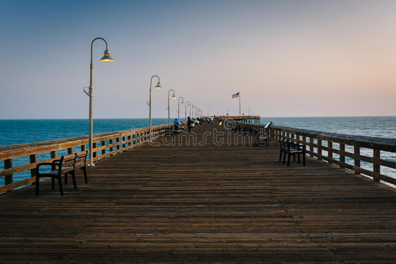 The fishing pier in Ventura, California. royalty free stock photography