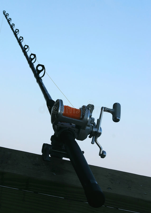 Fishing Pole Abstract. An abstract view of a fishing pole royalty free stock image