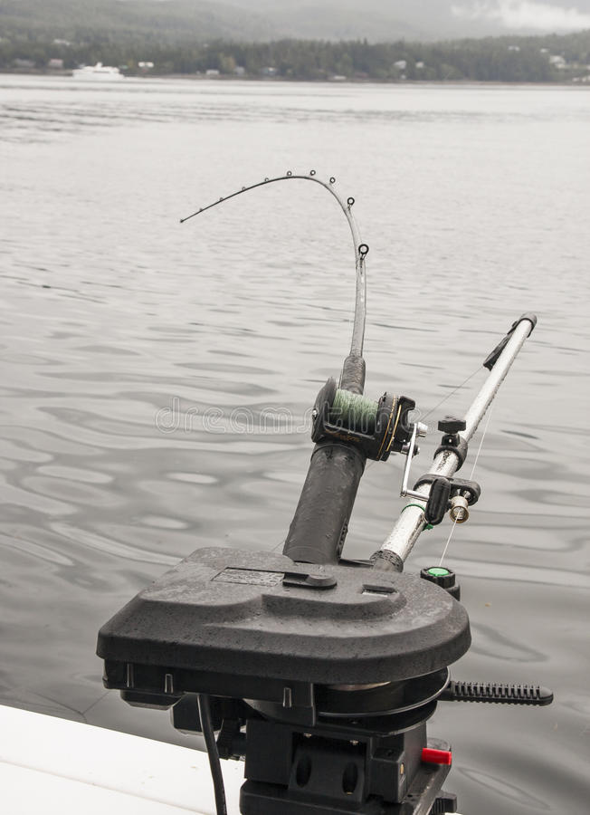 Download Fishing Pole Attached To Depth Finder Stock Photo - Image: 27666598