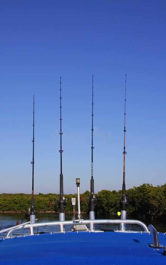 Fishing poles royalty free stock image