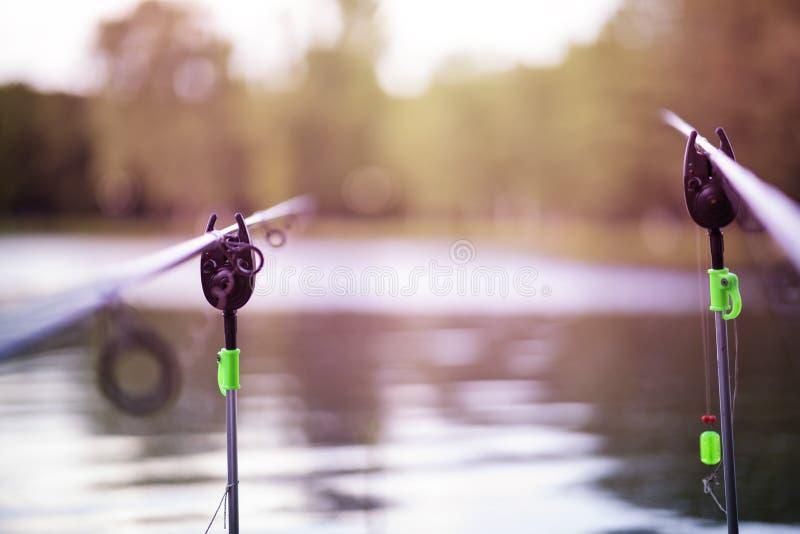 Fishing poles royalty free stock photo