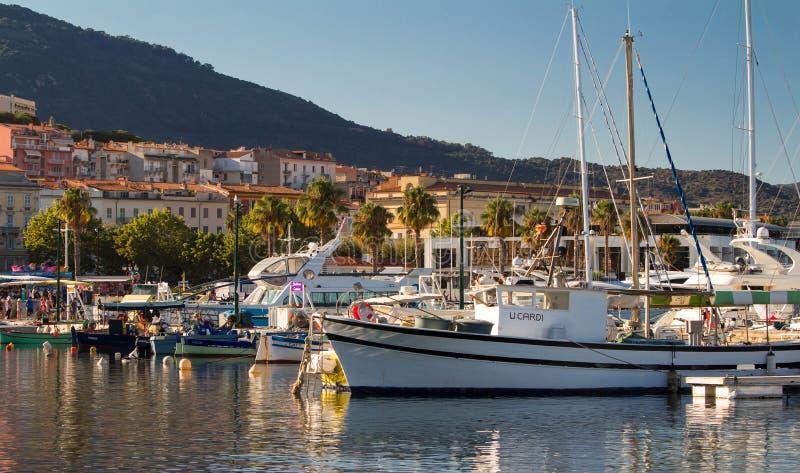 The fishing port of Ajaccio. royalty free stock image