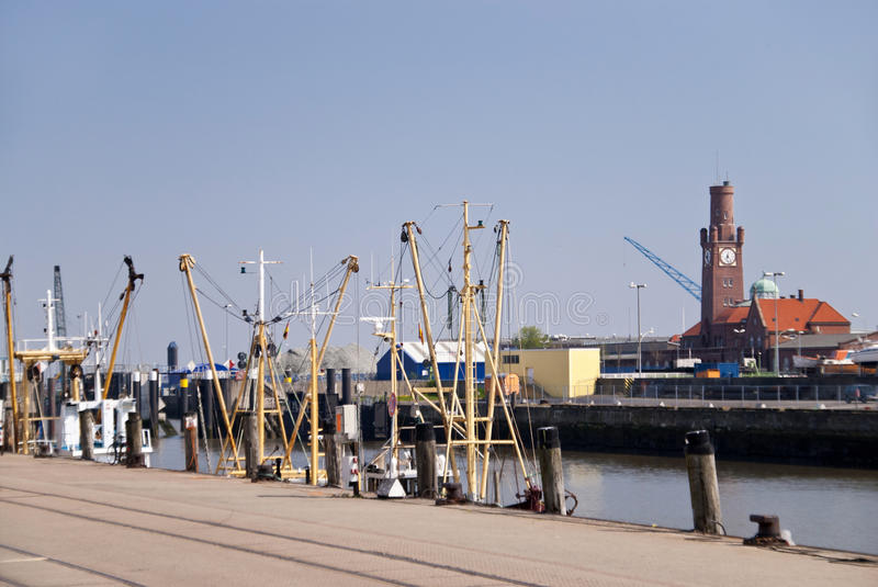 Fishing port Cuxhaven stock images