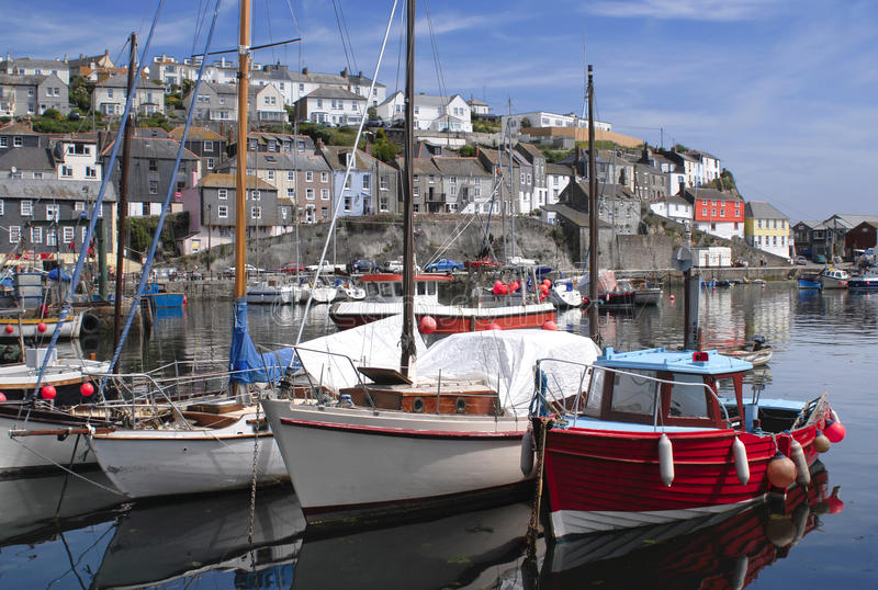 Download The Fishing Port Of Mevagissey In Cornwall England Stock Photo - Image of resort, blue: 16686244