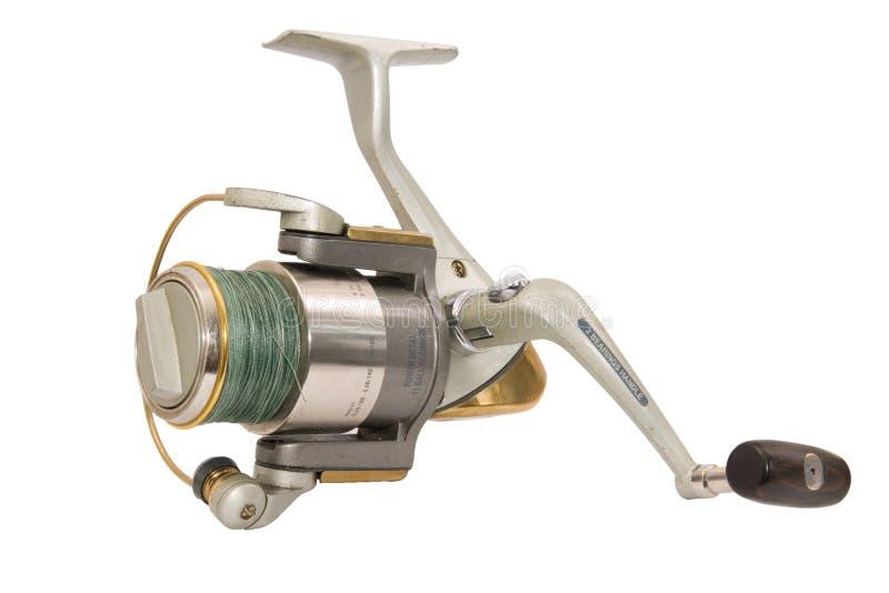 Fishing reel. Isolated on white background stock image