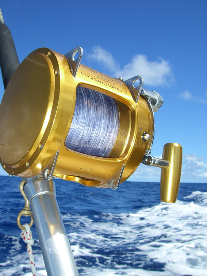 Download Fishing reel stock image. Image of white, oahu, honolulu - 4652927