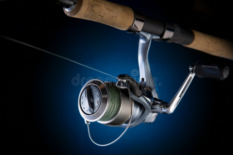 Download Fishing reel stock photo. Image of lake, river, casting - 5108956