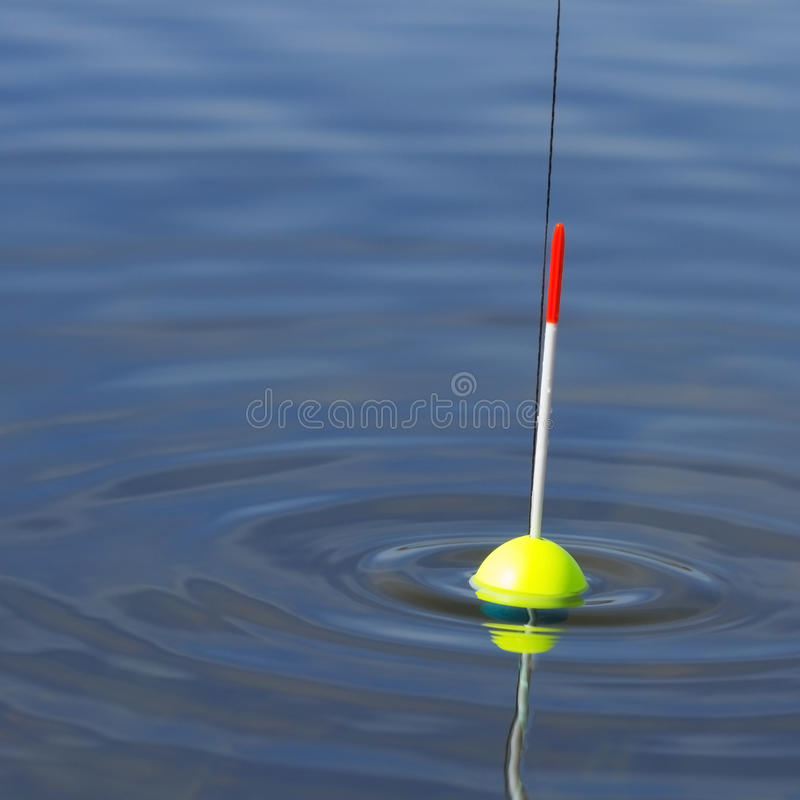 Fishing rod. Fish are biting on the float rod stock photo