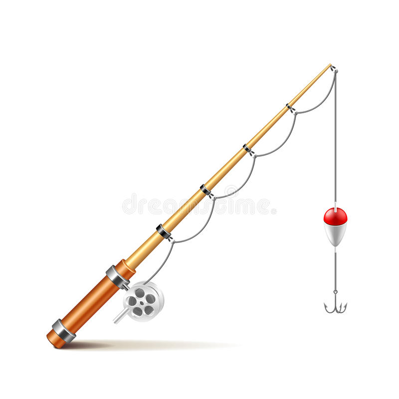 Free Fishing Rod On White Vector Stock Photography - 70086232