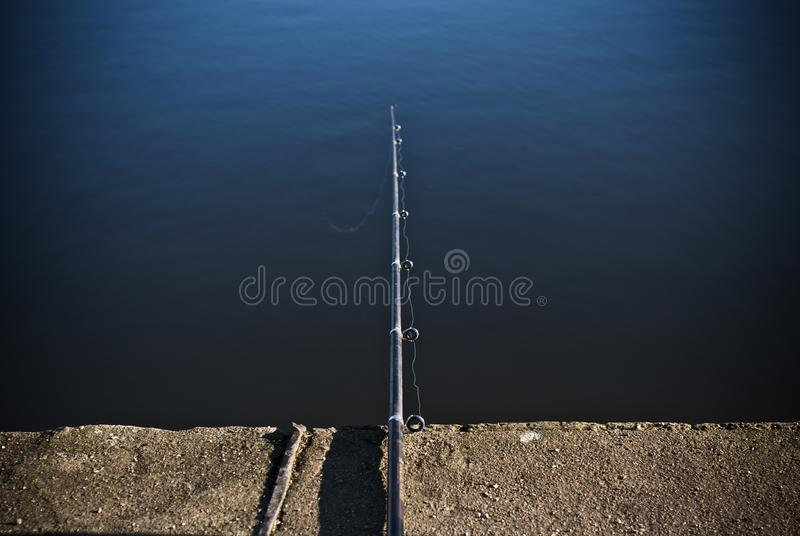 Fishing rod on the pier