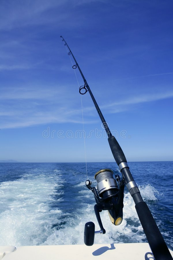 Download Fishing Rod And Reel On Boat, Fishing Stock Image - Image: 9110509