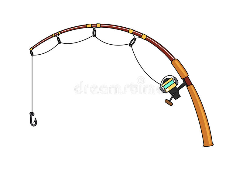 fishing rod  vector stock vector illustration of fishing fishing rod clipart with blue background fishing rod clipart free