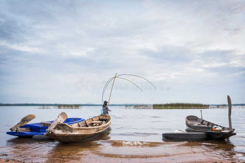 Fishing scoop royalty free stock photography